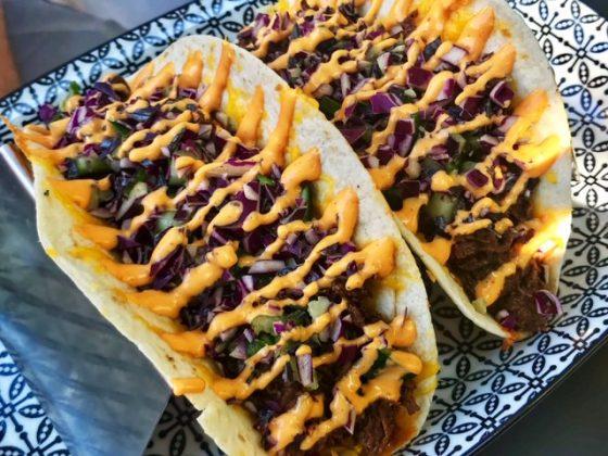 Restaurante Ancho, tacos de carne