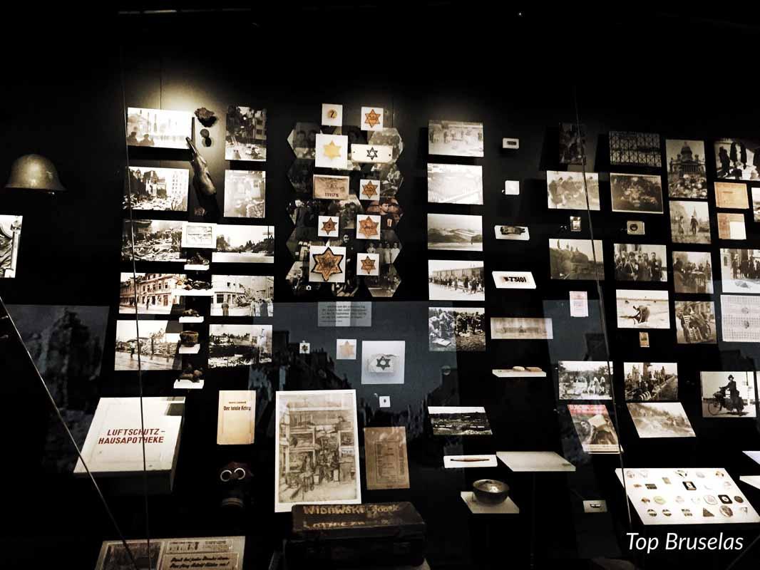 Casa de la Historia Europea pared con fotos