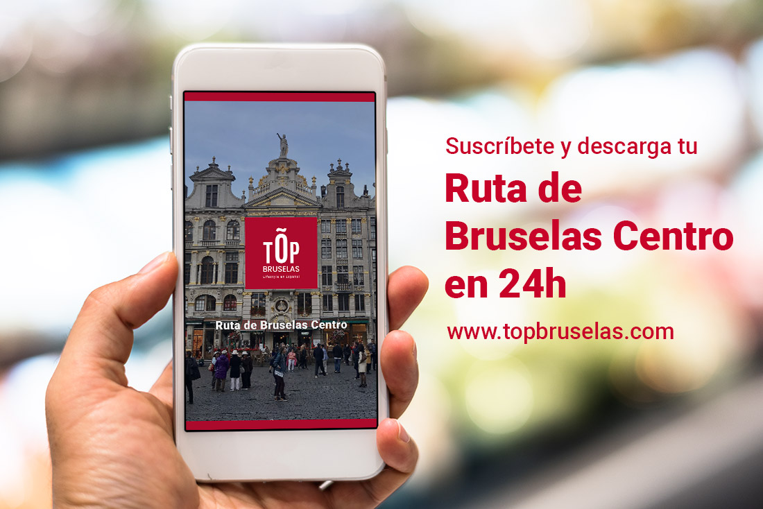 Suscribete y descarga en tu movil la ruta de Bruselas Centro en 24h