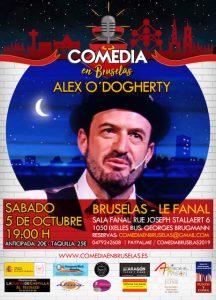 Cartel Comedia en Bruselas