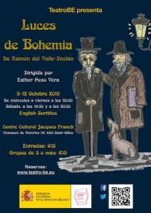 Cartel Teatro Luces de Bohemia
