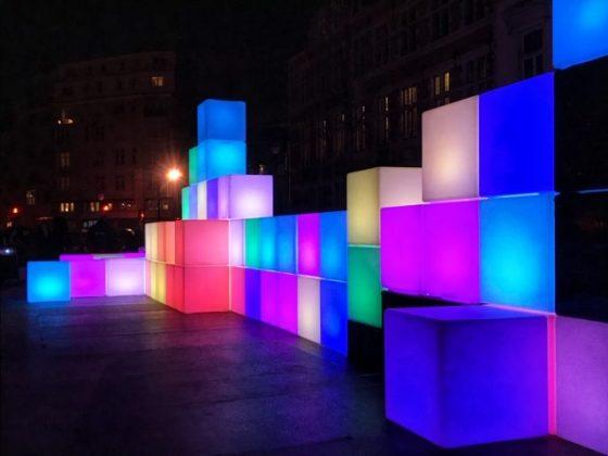 Bright Brussels cubos de colores
