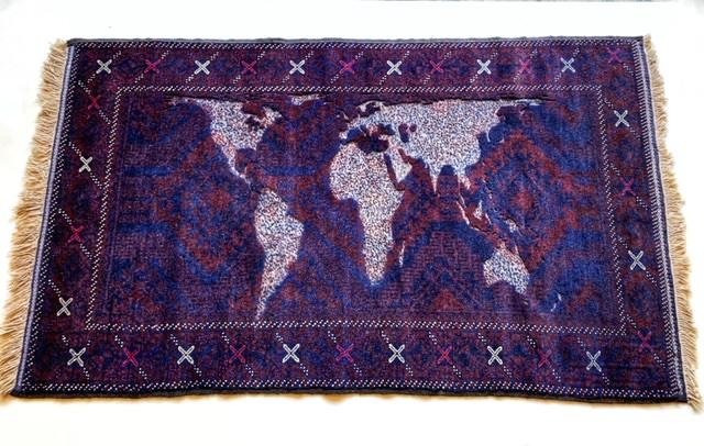 Mappa Mundi en alfombra
