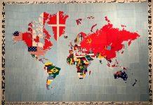 Mappa Mundi mapa con banderas