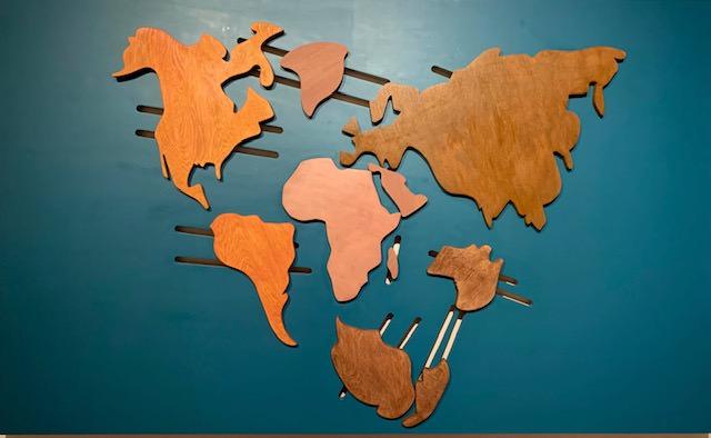 Mappa Mundi de madera